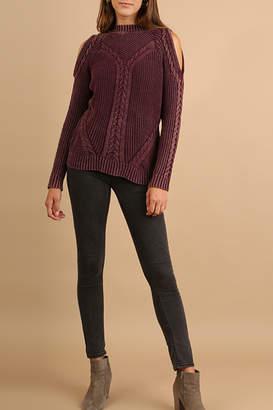 Umgee USA Cutout Knit Sweater