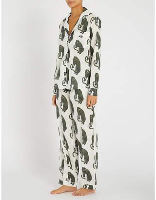 Desmond And Dempsey Tiger-print cotton pyjama set