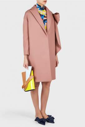 DELPOZO Straight Coat with Bow