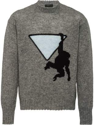 Prada monkey intarsia knit jumper