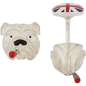 Deakin & Francis Men's Bulldog with Cigar Cufflinks