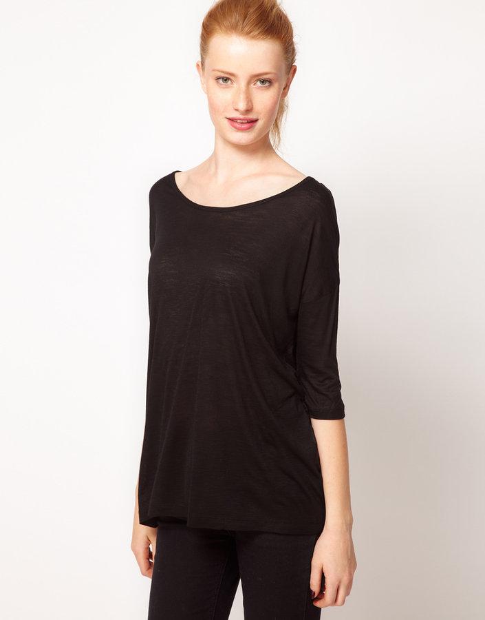 Vero Moda Slouchy Slub Long T-Shirt