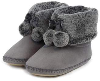 totes Ladies Suedette Fur Booties