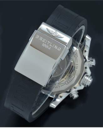 Pre-Owned Gents Super Avenger II Steel Watch. Black Dial. Ref A13371