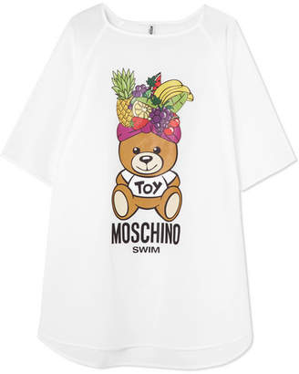 Moschino - Printed Cotton-jersey T-shirt - White