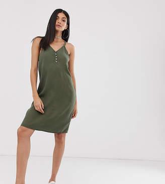 Noisy May Tall button detail cami mini dress