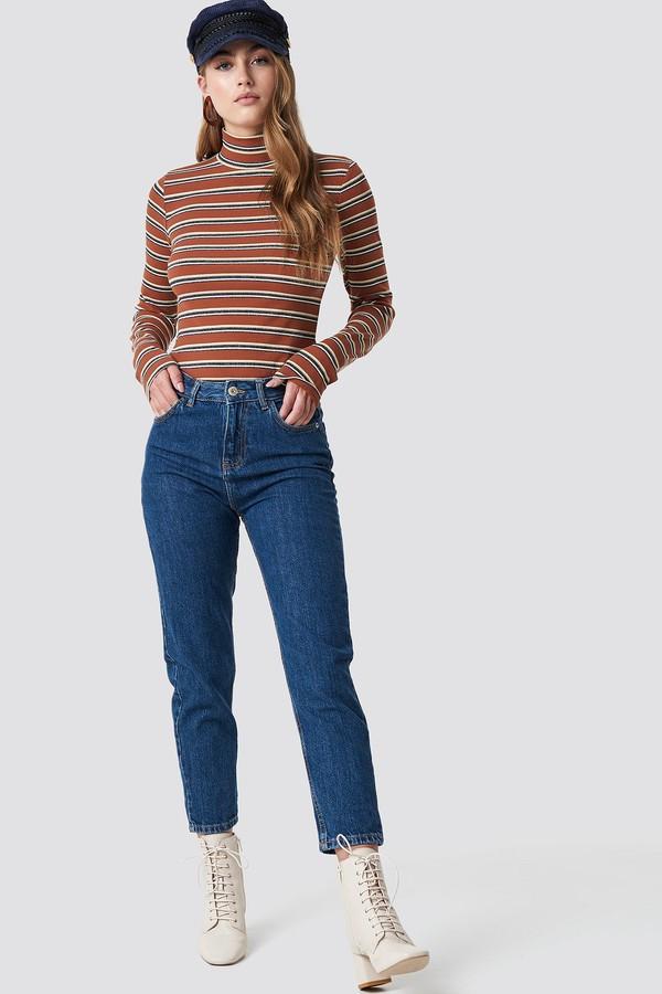 Relaxed Mom Jeans Dark Denim
