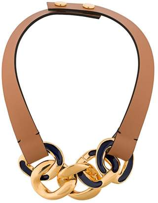 Marni curb chain choker necklace