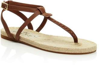 76a163444 Jack Rogers Women s Evie Leather Flat Thong Sandals