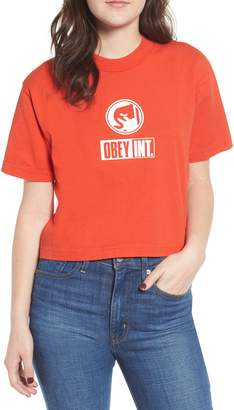 Obey Int. Icon Crop Tee
