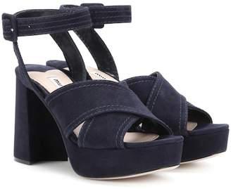 Miu Miu Plateau suede sandals