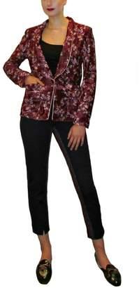 Maryley Wine Floral Blazer