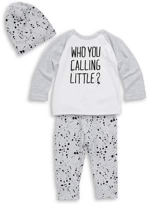 Petit Lem Little Boy's Three-Piece Raglan Top, Printed Pants and Hat Set