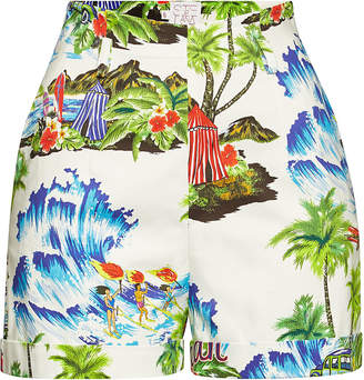 Stella Jean Printed Cotton Shorts