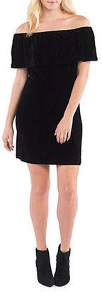 Kensie Off-the-Shoulder Velvet Dress $89 thestylecure.com