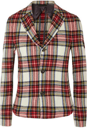 R 13 Tartan Wool-blend Blazer - Red