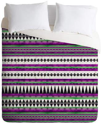 Deny Designs Iveta Abolina Purple Duvet Set, Twin Bedding