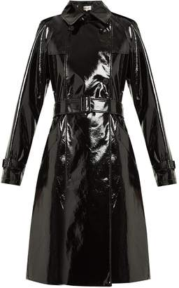 Diane von Furstenberg Double-breasted vinyl trench coat