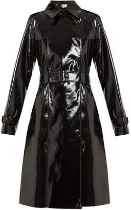 Diane von Furstenberg Double-breasted vinyl trench coat