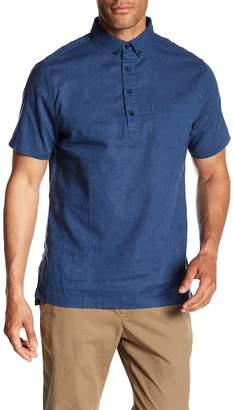 Onia Josh Woven Polo Shirt