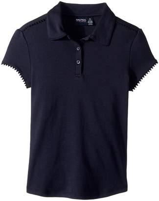 Nautica Short Sleeve Interlock Polo Girl's Clothing