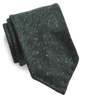 Drakes Drake's Green Speckled Wool and Silk Tie