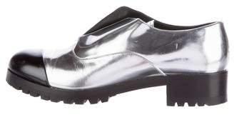 Miu Miu Cap-Toe Metallic Oxfords