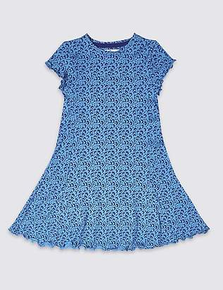 Marks and Spencer Cotton Dress with Stretch (3-16 Years)
