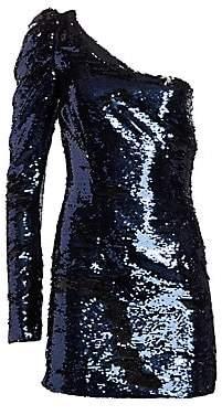 Amen Women's One-Shoulder Sequin Mini Dress
