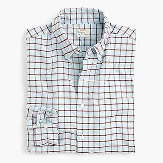 J.Crew Slim American Pima cotton checked oxford shirt with mechanical stretch