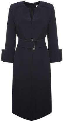Victoria Beckham Belted Crepe Midi Dress