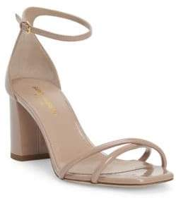 Saint Laurent Lou Lou Crisscross Leather Sandals