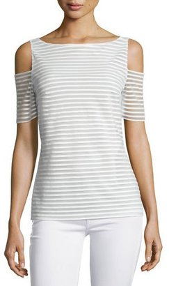 Bailey 44 Shadow Play Striped Cold-Shoulder Top $70 thestylecure.com