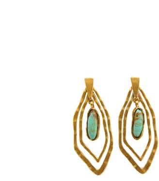Christina Greene - Deco Geo Earring in Turquoise