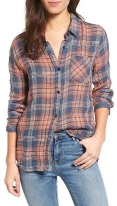 Women's Rails Jerrah Metallic Cotton Plaid Shirt $148 thestylecure.com