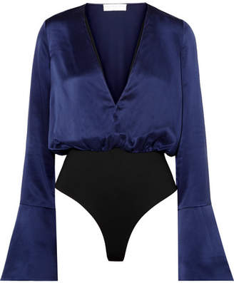 Caroline Constas Daria Silk-satin Bodysuit