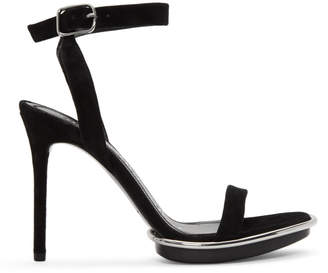 Alexander Wang Black Suede Cady Sandals