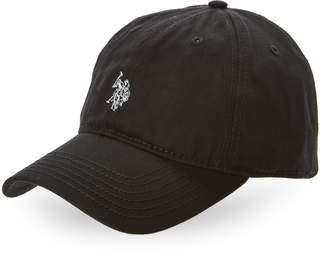 U.S. Polo Assn. Black Metallic Logo Baseball Cap