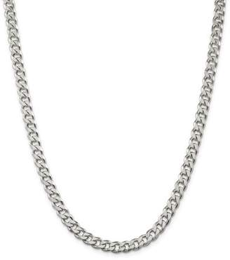 Jewelrypot Sterling Silver 8in 7.00mm Men's Curb Chain Bracelet