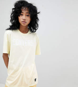 Converse Essentials Logo T-Shirt In Lemon