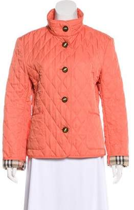 Burberry Quilted Collar Jacket