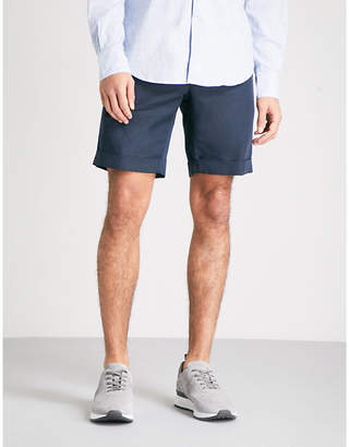SLOWEAR Slim fit linen and cotton blend chino shorts NGNZSE