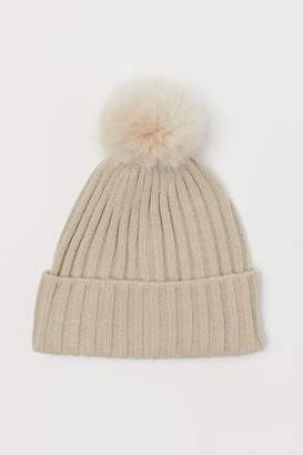 H&M Rib-knit Hat - Brown