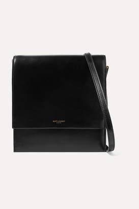 Saint Laurent Sao Leather Shoulder Bag - Black