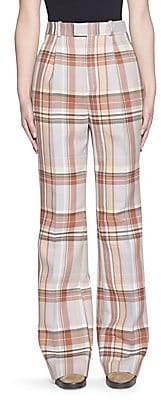 Acne Studios Women's Plaid Wool Pants