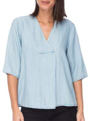 Bobeau B Collection by Maureen Lyocell Blouse