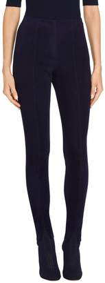 St. John Stretch Suede Leather Cropped Legging