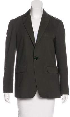 Etro Peak-Lapel Button-Up Blazer