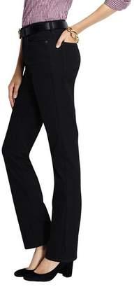 Lands' End Black Petite High Rise Straight Leg Black Jeans