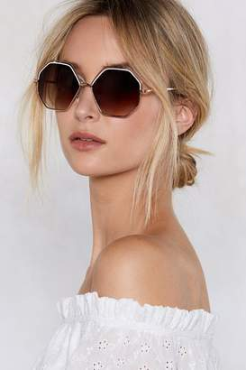 Nasty Gal Smoke and Mirrors Hexagonal Shades